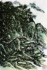 设色山水38,黄宾虹,中国近代大师名画,