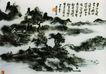 设色山水图册,黄宾虹,中国近代大师名画,寺庙 青松 幽静
