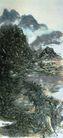 设色山水轴1,黄宾虹,中国近代大师名画,