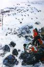 曲玛尔河上,黄胄,中国近代大师名画,