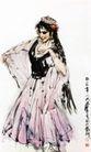 维吾尔舞蹈,黄胄,中国近代大师名画,维吾尔 美女 舞姿