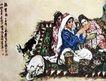 维族歌舞(a),黄胄,中国近代大师名画,少数 民族 风俗