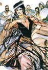 维族舞(a),黄胄,中国近代大师名画,摇摆 头部 黑丝