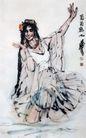 维族舞(b),黄胄,中国近代大师名画,