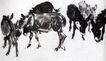 群驴图卷(a ),黄胄,中国近代大师名画,