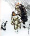雪夜送亲人,黄胄,中国近代大师名画,