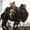 驼背上的小学生,黄胄,中国近代大师名画,