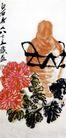 菊花九坛,齐白石,中国近代大师名画,图示 文字 齐白石