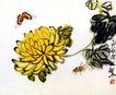 菊花秋虫,齐白石,中国近代大师名画,闻名 作品 名画