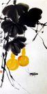 葫芦草虫,齐白石,中国近代大师名画,葫芦 蟋蟀 自然