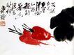 蔬香图,齐白石,中国近代大师名画,红椒 蔬菜 名作