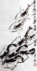 虾,齐白石,中国近代大师名画,中国画 龙虾 文字