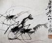 虾4,齐白石,中国近代大师名画,印章 生物 题辞