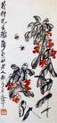 风仙花,齐白石,中国近代大师名画,