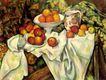 静物油画0004,静物油画,国外传世名画,苹果 满桌 滑落