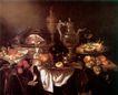 静物油画0007,静物油画,国外传世名画,酒壶 果脯 美食