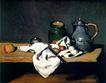 静物油画0009,静物油画,国外传世名画,漆壶 实木 桌面