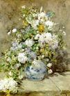 静物油画0033,静物油画,国外传世名画,小白花 鲜花 装饰