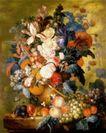 静物油画0036,静物油画,国外传世名画,花朵 鲜花 枝叶