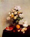 静物油画0037,静物油画,国外传世名画,桌面 水果 桔子