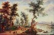 风景油画0156,风景油画,国外传世名画,依稀人影