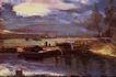风景油画0157,风景油画,国外传世名画,夜景