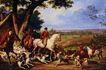 风景油画0165,风景油画,国外传世名画,白马