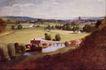 风景油画0168,风景油画,国外传世名画,草地