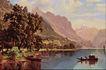 风景油画0169,风景油画,国外传世名画,湖面