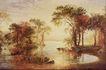 风景油画0181,风景油画,国外传世名画,水池 乡村