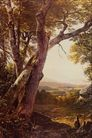 风景油画0185,风景油画,国外传世名画,樟树 山景