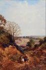 风景油画0186,风景油画,国外传世名画,小道 自然景观