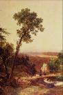 风景油画0187,风景油画,国外传世名画,小树 乡村景色