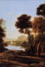 风景油画0189,风景油画,国外传世名画,农村风景 树木