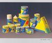 装潢艺术设计作品0168,装潢艺术设计作品,包装设计,三角形 黄色 易拉罐