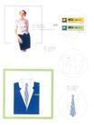 哈贝眼镜连锁店-003,学生作品,中国品牌年鉴2004,胸牌 女营业员  蓝色西装 衬衫