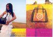 格调连锁店-003,服饰美容,中国品牌年鉴2004,长发美女 黑色包包 白色裙子 黄色麦田