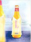 饮料0013,饮料,中国广告作品年鉴2004,白黄色 瓶子 喜欢我