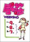 流行服饰0021,流行服饰,商业促销POP模板,紫色 红色 女孩