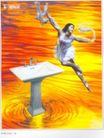 家用电器广告创意0124,家用电器广告创意,国际知名品牌广告创意,舞姿 水槽 水龙头