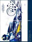 汽车摩托车广告创意0087,汽车摩托车广告创意,国际知名品牌广告创意,旗帜 车手 车轮