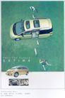 汽车摩托车广告创意0109,汽车摩托车广告创意,国际知名品牌广告创意,俯瞰图 广告海报