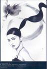 美容化妆品广告创意0083,美容化妆品广告创意,国际知名品牌广告创意,长发 性感 黑色