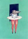 孔乔作品集0044,孔乔作品集,世界设计名家,杯子 茶具 老鼠