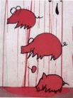 王冠咏作品集0007,王冠咏作品集,世界设计名家,野猪 版画 红色 凶残 寻找 食物  海报 POP 招贴 宣传画 国外设计 名家设计 宣传单张