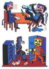 王翰尼作品集0060,王翰尼作品集,世界设计名家,漫画 机器人 绑架