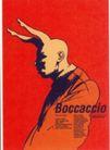 皮埃尔.迪休洛作品集0011,皮埃尔.迪休洛作品集,世界设计名家,长耳 弓 侧立 红色 人物 boccaccio  海报 POP 招贴 宣传画 国外设计 名家设计 宣传单张