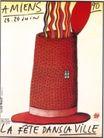米歇尔.布韦作品集0001,米歇尔.布韦作品集,世界设计名家,帽子 烟囱 冒烟 污染 打开 盖子  海报 POP 招贴 宣传画 国外设计 名家设计 宣传单张