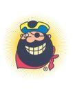 罗克威作品集0060,罗克威作品集,世界设计名家,漫画 海盗头子 大胡子