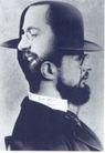 蒙古齐作品集0055,蒙古齐作品集,世界设计名家,头像 思考 礼帽